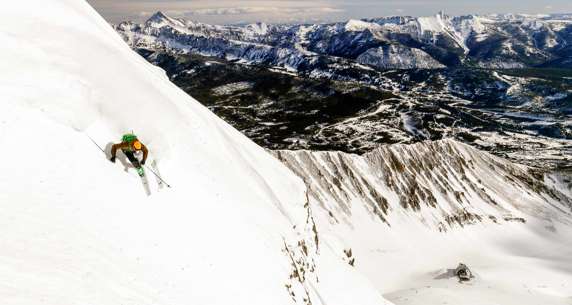 Downhill skiing in Glacier and Yellowstone Country